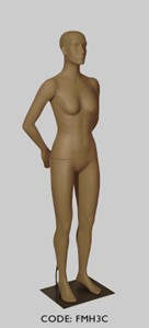 Female Mannequin with Head - Arm Pose C