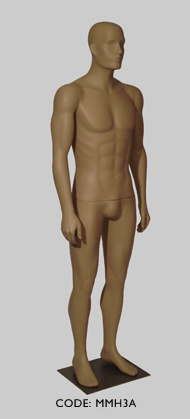 Male Mannequin with Head - Arm Pose A