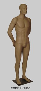 Male Mannequin with Head - Arm Pose C