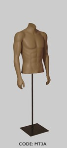 Male Torso Headless with Arm Pose A