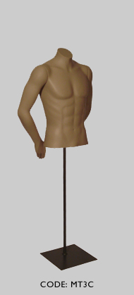 Male Torso Headless with Arm Pose C