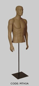 Male Torso with Head & Arm Pose A